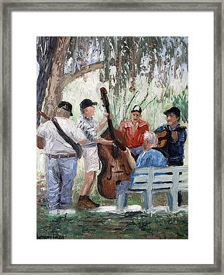 Bluegrass In The Park Framed Print by Anthony Falbo