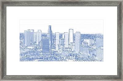 Blueprint Drawing Of Los Angeles Framed Print
