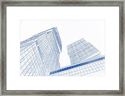 Blueprint Drawing Of Moscow City Megalopolis 95 Framed Print