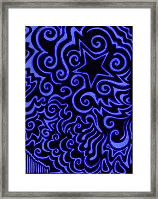 Blueprint For The Stars Framed Print by Mandy Shupp