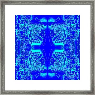 Blueprint Framed Print by Helena Tiainen