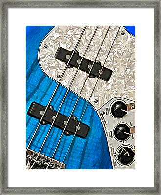 Blues Bass Framed Print by William Jobes