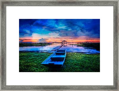 Blues Before Dawn Framed Print by Debra and Dave Vanderlaan