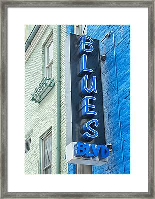 Blues Blvd Framed Print by Blaine Owens Photography
