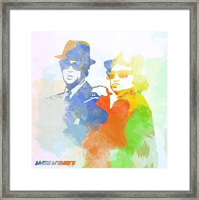 Blues Brothers Framed Print by Naxart Studio