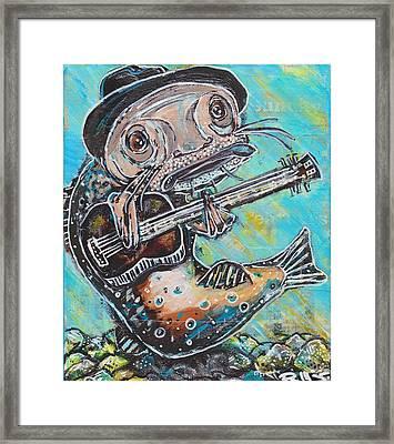 Blues Cat Revisited Framed Print