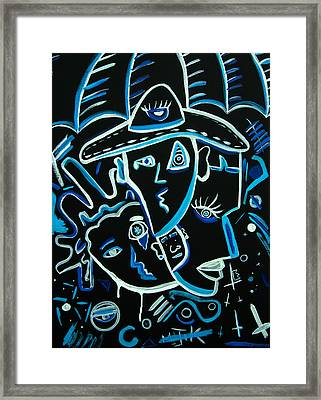 Blues Face Framed Print by Kenal Louis
