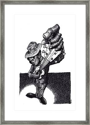 Blues Guitar Framed Print by Tobey Anderson