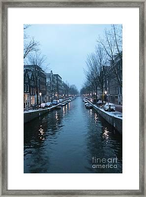 Blues In Amsterdam Framed Print by Carol Groenen