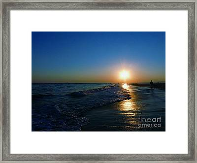 Blues In The Evening Framed Print
