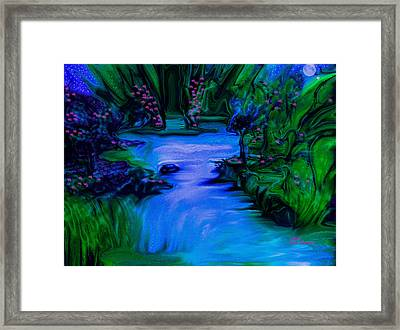 Blues In The Night Framed Print