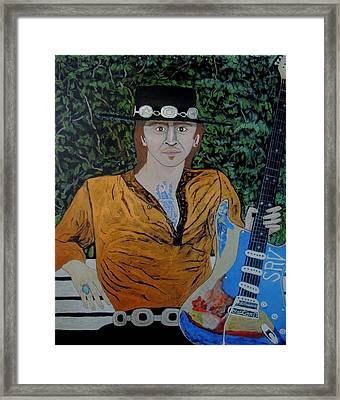 Blues In The Park With Srv. Framed Print