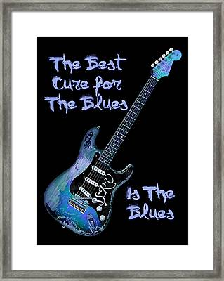 Blues Is The Cure Framed Print by WB Johnston