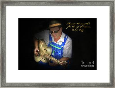 Blues Framed Print by Marion Johnson