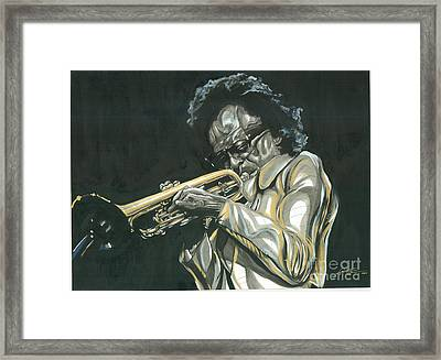 Blues Miles Framed Print by Keith  Thurman