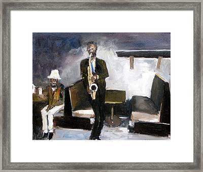 Blues Night Framed Print by Udi Peled