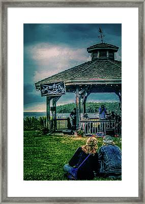 Blues On The Bay Framed Print