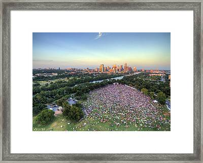 Blues On The Green With Bob Schneider Framed Print