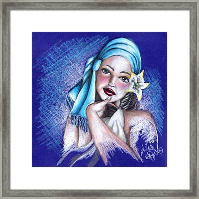 Blues Framed Print by Scarlett Royal