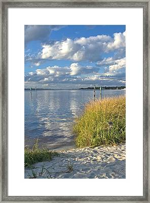 Blues Skies Of The Cape Fear River Framed Print