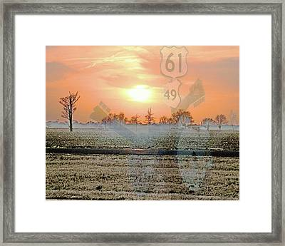 Blues Trail Framed Print