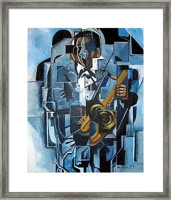 Blues Trane Framed Print by Martel Chapman
