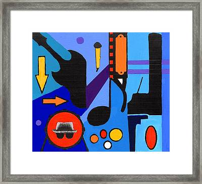 Blues1 Framed Print