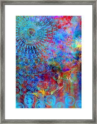 Blueshine Framed Print by Moon Stumpp