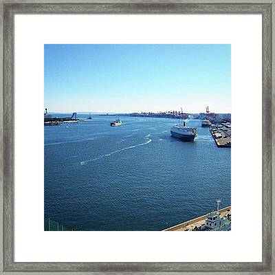 #bluesky #blueocean #青い空 Framed Print by Bow Sanpo