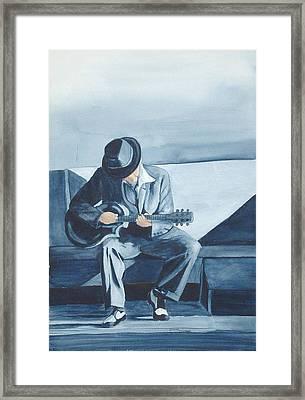 Bluesman Framed Print