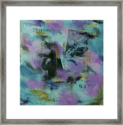 Bluesy Jazz Framed Print by Robin Lee