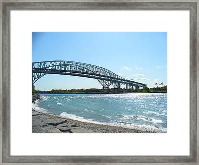 Bluewater Bridges Framed Print