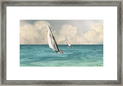Bluewater Cruising Sailboats Framed Print