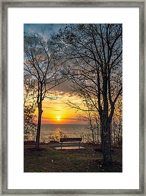 Bluff Bench Framed Print by James  Meyer