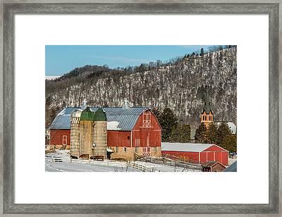 Bluff Country Barn Framed Print by Paul Freidlund