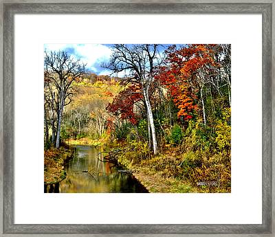 Bluff Country Framed Print