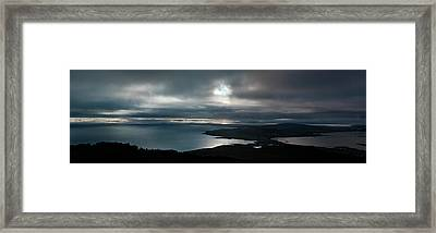 Bluff Panorama Framed Print by Odille Esmonde-Morgan