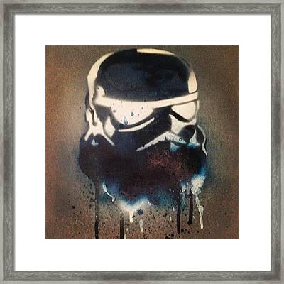 Blue Trooper Cult Framed Print by Frankie Mcvay