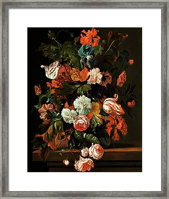 Blumenstillleben Framed Print by Ernst Stuven