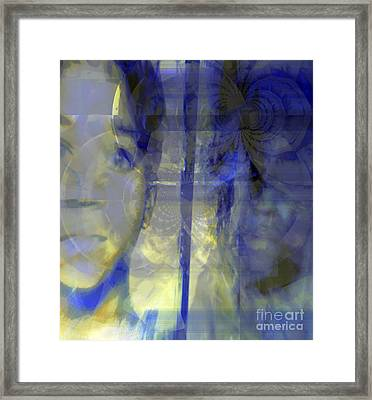 Blurism And Reflecting Shadow Framed Print by Fania Simon