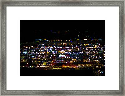 Blurred City Lights  Framed Print