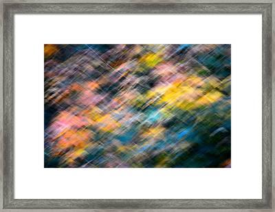 Blurred Leaf Abstract 1 Framed Print