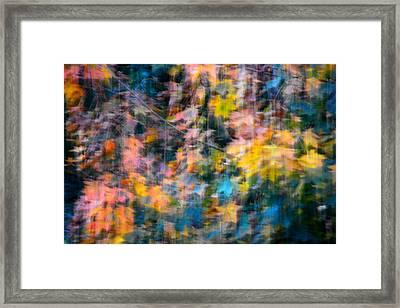 Blurred Leaf Abstract 2 Framed Print