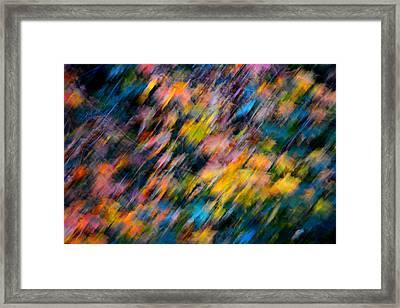 Blurred Leaf Abstract 4 Framed Print