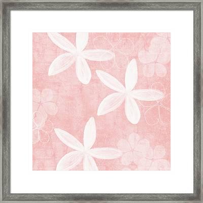 Blush Blossoms 3- Art By Linda Woods Framed Print