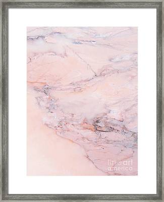 Blush Marble Framed Print