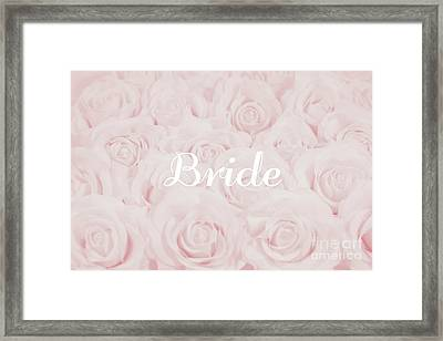 Blush Pink Bride Framed Print