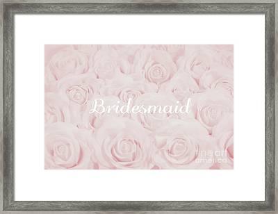 Blush Pink Bridesmaid Framed Print