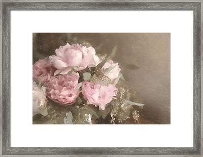 Blush Pink Peonies Framed Print