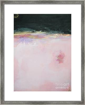 Blush Seduction Abstract Art Print Framed Print by Anahi DeCanio